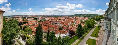 Εναέρια όψη της Πράγας, Δημοκρατία της Τσεχίας περιοχή Μόσχα μια πανοραμική όψη Στοκ φωτογραφίες με δικαίωμα ελεύθερης χρήσης
