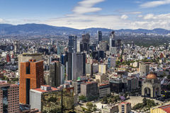 Εναέρια όψη της Πόλης του Μεξικού Στοκ Εικόνες