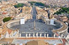 εναέρια όψη της Ρώμης Βατικ&alp Στοκ Φωτογραφίες