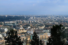 εναέρια όψη της Ρώμης Στοκ εικόνα με δικαίωμα ελεύθερης χρήσης