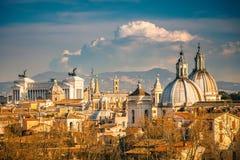 Εναέρια όψη της Ρώμης Στοκ εικόνες με δικαίωμα ελεύθερης χρήσης