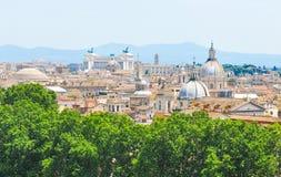 εναέρια όψη της Ρώμης Στοκ Φωτογραφία