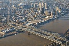Εναέρια όψη της στο κέντρο της πόλης Νέας Ορλεάνης Στοκ Φωτογραφίες