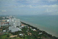 εναέρια όψη της Ταϊλάνδης pattaya π Στοκ εικόνες με δικαίωμα ελεύθερης χρήσης