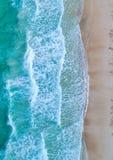εναέρια όψη Τοπ όψη Καταπληκτικό υπόβαθρο φύσης Το χρώμα Στοκ Εικόνες