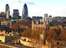 εναέρια όψη του Λονδίνου πόλεων στοκ εικόνες με δικαίωμα ελεύθερης χρήσης