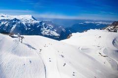 Εναέρια όψη των ελβετικών Άλπεων Στοκ εικόνα με δικαίωμα ελεύθερης χρήσης