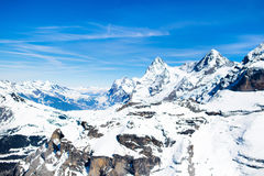 Εναέρια όψη των ελβετικών Άλπεων Στοκ φωτογραφίες με δικαίωμα ελεύθερης χρήσης