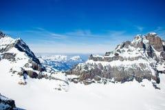 Εναέρια όψη των ελβετικών Άλπεων Στοκ φωτογραφία με δικαίωμα ελεύθερης χρήσης