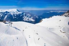 Εναέρια όψη των ελβετικών Άλπεων Στοκ Εικόνες