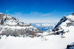 Εναέρια όψη των ελβετικών Άλπεων Στοκ εικόνες με δικαίωμα ελεύθερης χρήσης