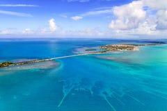 Εναέρια όψη των Florida Keys με τη γέφυρα στοκ εικόνες
