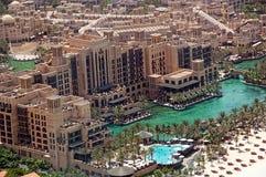 εναέρια όψη jumeirah madinat στοκ εικόνες
