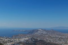 εναέρια όψη santorini Ελλάδα Στοκ Φωτογραφίες