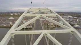 Εναέρια Fremont γέφυρα του Πόρτλαντ απόθεμα βίντεο