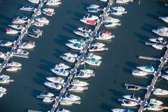 Εναέριες βάρκες στο λιμάνι Στοκ Εικόνα