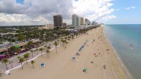 Εναέριες βιντεοσκοπημένες εικόνες παραλιών του Fort Lauderdale απόθεμα βίντεο