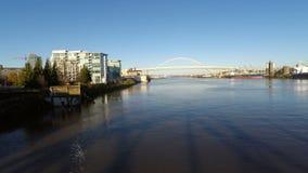 Εναέριες γέφυρες ποταμών του Πόρτλαντ απόθεμα βίντεο