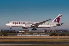 Εναέριοι διάδρομοι του Κατάρ στοκ εικόνα με δικαίωμα ελεύθερης χρήσης