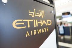 Εναέριοι διάδρομοι Etihad στοκ εικόνες με δικαίωμα ελεύθερης χρήσης