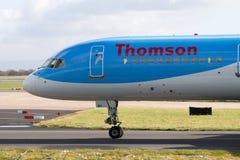 Εναέριοι διάδρομοι Boeing 757-200 Thomson Στοκ Φωτογραφία