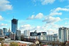 Εναέριοι στο κέντρο της πόλης επιχειρησιακοί ουρανοξύστες άποψης, κέντρο πόλεων Στοκ φωτογραφίες με δικαίωμα ελεύθερης χρήσης
