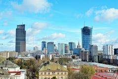 Εναέριοι στο κέντρο της πόλης επιχειρησιακοί ουρανοξύστες άποψης, κέντρο πόλεων Στοκ φωτογραφία με δικαίωμα ελεύθερης χρήσης