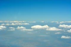 Εναέριοι cloudscape, ουρανός και ορίζοντας. Στοκ εικόνα με δικαίωμα ελεύθερης χρήσης