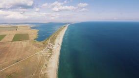 Εναέριος βλαστός της ακτής και της λίμνης Μαύρης Θάλασσας από το copter φιλμ μικρού μήκους