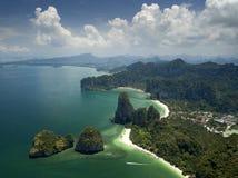 Εναέριος κόλπος AO Phang Nga άποψης σε Krabi, Ταϊλάνδη Στοκ εικόνα με δικαίωμα ελεύθερης χρήσης
