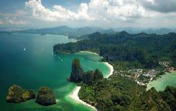 Εναέριος κόλπος AO Phang Nga άποψης σε Krabi, Ταϊλάνδη Στοκ φωτογραφίες με δικαίωμα ελεύθερης χρήσης