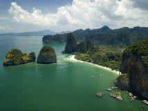 Εναέριος κόλπος AO Phang Nga άποψης σε Krabi, Ταϊλάνδη Στοκ εικόνες με δικαίωμα ελεύθερης χρήσης