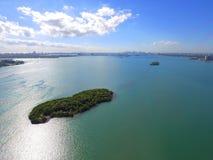 Εναέριος κόλπος Φλώριδα Biscayne εικόνας Στοκ Εικόνες