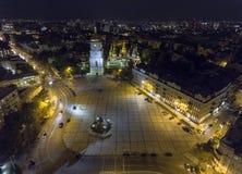 Εναέριος ορθόδοξος καθεδρικός ναός σε Kyiv Καθεδρικός ναός Kyiv της Sophia Ουκρανία Στοκ φωτογραφίες με δικαίωμα ελεύθερης χρήσης