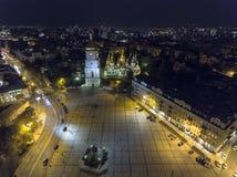 Εναέριος ορθόδοξος καθεδρικός ναός σε Kyiv Καθεδρικός ναός Kyiv της Sophia Ουκρανία Στοκ φωτογραφία με δικαίωμα ελεύθερης χρήσης