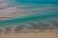Εναέριος πυροβολισμός από τον κόλπο Roebuck, Broome, δυτική Αυστραλία, Αυστραλία στοκ εικόνα