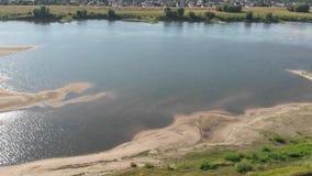 Εναέριος πυροβολισμός του ποταμού Vistula απόθεμα βίντεο