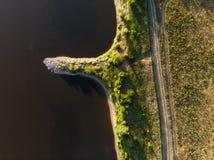 Εναέριος πυροβολισμός του ποταμού Vistula στοκ εικόνα με δικαίωμα ελεύθερης χρήσης