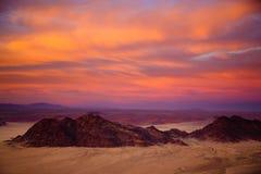 Εναέριος πυροβολισμός της ερήμου Namib - Sossusvlei - Ναμίμπια Στοκ Φωτογραφία