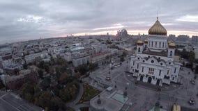 Εναέριος πυροβολισμός της μεγάλης οικοδόμησης του καθεδρικού ναού Χριστού ο λυτρωτής απόθεμα βίντεο