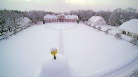 Εναέριος πυροβολισμός του φέουδου Vihula με το χιόνι φιλμ μικρού μήκους