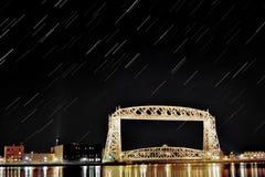 Εναέριο ίχνος αστεριών γεφυρών ανελκυστήρων Στοκ Φωτογραφίες