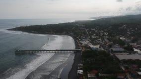 Εναέριο βίντεο 2 Λα Libertad Ελ Σαλβαδόρ απόθεμα βίντεο