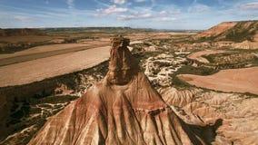 Εναέριο βίντεο των σχηματισμών άμμου στην έρημο φιλμ μικρού μήκους