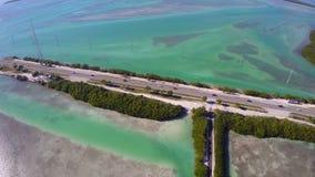 Εναέριο βίντεο των Florida Keys απόθεμα βίντεο