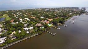 Εναέριο ΛΦ του δυτικού Palm Beach απόθεμα βίντεο