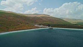 Εναέριο μήκος σε πόδηα ενός μεγάλου υδραγωγείου στο βόρειο Ισραήλ φιλμ μικρού μήκους