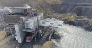 Εναέριο μήκος σε πόδηα μεγάλου βιομηχανικού ενός σύνθετου χημικό πετρέλαιο εργοστ&alp απόθεμα βίντεο