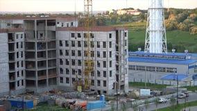 Εναέριο μήκος σε πόδηα του νοσοκομείου οικοδόμησης κτηρίου φιλμ μικρού μήκους