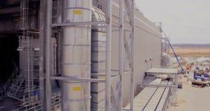 Εναέριο μήκος σε πόδηα μεγάλου βιομηχανικού ενός σύνθετου απόθεμα βίντεο